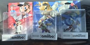 Dr. Mario, Fox and Falco Super Smash Bros series amiibo