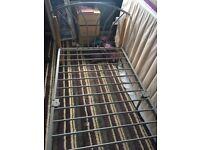 Metal frame single bed -no mattress