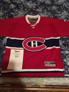 Signed and authenticated Carey price jersey