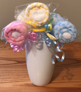Baby Shower Washcloth Lollipops Favors