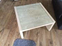 Modern Glass Topped Coffee Table
