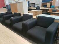 Fabric reception chairs