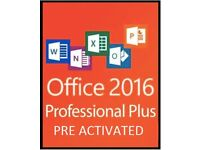 MICROSOFT OFFICE 2016 Pro Plus - WORD, POWERPOINT, EXCEL, OUTLOOK, ACCESS, PUBLISHER