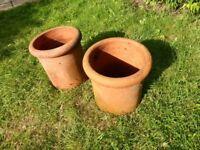 Garden pots that were chimney pots.