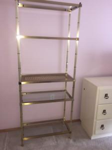 4 shelf etagere shelving uniy