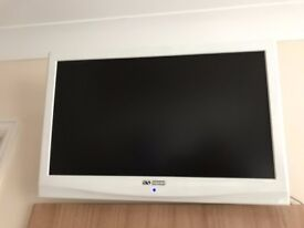 "Remote controlled Acoustic Solutions colour 22"" LCD TV with Freeview"