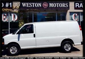 2011 GMC Savana 2500 RARE SLIDING DOORS*NEW TIRES*AC*SHELVING*