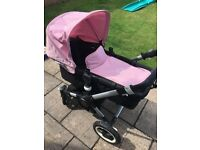 BUGABOO BUFFALO PINK + EXTRAS **REDUCTION IN PRICE**