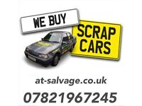 scrap my car Hertfordshire cash on collection a.t salvage scrap a car or van