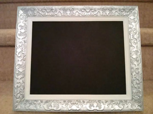 Silver and White Detailed Chalkboard
