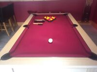 Stunning red cloth pool table