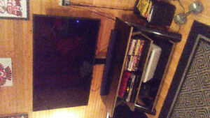 49 RCA Flat Screen and Glass Stand