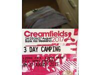 Creamfields - standard 3 day camping