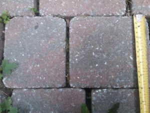 Approximately 540 pavers paving stones. Covers around 132 sqfeet