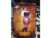 PIRATE WENCH / BUCCANEER FANCY DRESS OUTFIT 16/18 PARTY OR HEN DO