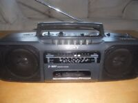 Sony Retro AM FM Radio Tuner Cassette Tape Recorder Player Boombox Portable