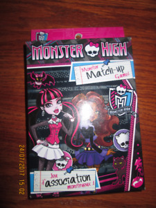JEU TRI-OMINOS ET JEU SCRABBLE JUNIOR + JEU MONSTER HIGH