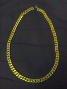 """men's 18""""  18k gold plated chunky necklace"""