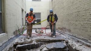 Concrete cutting & coring, demolition, excavating & more!