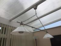 2 way ceiling lights pendant VGC RRP£150