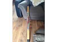 Lizard pattern wooden didgeridoo