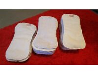 22 Wonderoo reusable nappies with inserts and boosters