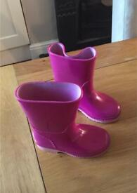 Girls Clarks Wellies- Toddler size 4.5