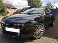 Alfa 159 1.8 MPI 2008. Black. MOT, FSH, HPI Clear, Leathers. Low mileage. All maintenance done.