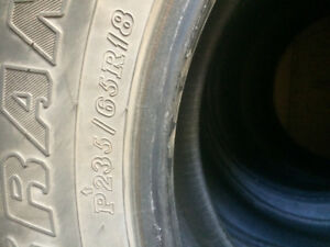 18 inch winter tires (studless) for sale(must go asap)