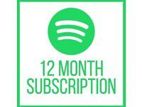Spotify Premium Account 12 Months+