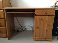 Modern Pine Desk - in very good condition.
