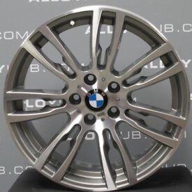 "FOR SALE : GENUINE BMW 403m diamond cut face, ferric grey insides 19"" alloy wheels for sale."