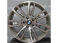 "FOR SALE : GENUINE BMW 403m diamond cut face, ferric grey insides 19"" alloy wheels for sale."