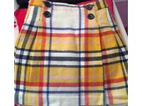 Mini Boden checked skirt