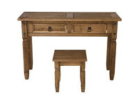 Puerto Rico Dressing Table and Stool - Dark