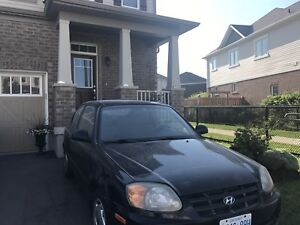 2006 Hyundai Accent 2 door Hatchback (manual transmission)