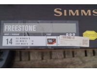 Simms Freestone Wading Boots 2015 Model size UK 13