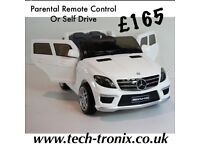Mercedes ML63, Ride-On, Parental Remote Control/ Self Drive, 12v Rubber Tyres