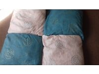Cushion sets. £5 a pair/set.