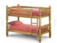 Bunk Beds also separate into 2 single beds - chunky pine very sturdy