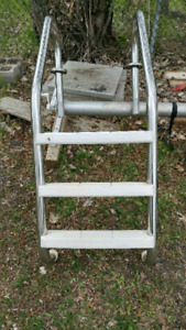 Ladder and water hose