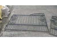 Wrought Iron Driveway Gates- Great Condition, Just Need a Lick of Paint!