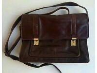 Vintage Brown Leather Bag Satchel