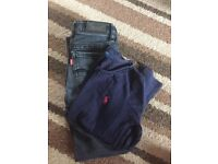 Girls genuine Levi jeans and Ralph Lauren long sleeve top