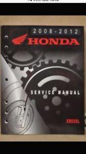 Wanted Honda XR650L repair manual