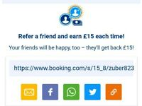 BOOKING COM £15 OFF