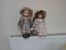 2 dolls approx 14 inches tall one RFcollection german doll other leonardo ex con