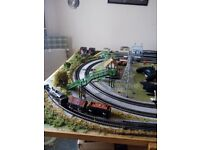 Full train setup built up over 10 years rolling stock plenty of accessories to many to mention