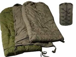 Canadian Military Issue 4 Piece Arctic Down Filled Sleeping Bag