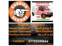 REMOVAL SERVICES MAN WITH VAN